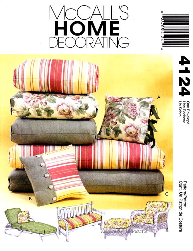 Mccall S Sewing Pattern 4124 Outdoor Chair Chaise Ottoman
