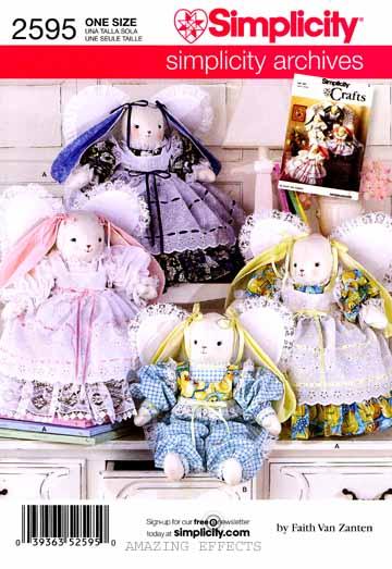 Simplicity-Pattern-2595-Stuffed-animals-Angel-Bunny